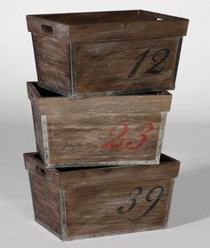 Barlow Numbered Crates - awesome!