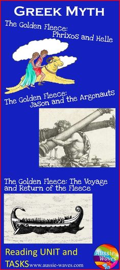 Reading task Cards and worksheets based on Jason and The Golden Fleece: Greek Myth