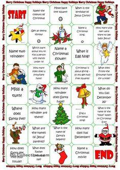 Christmas Board Game Free