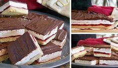 Recept na vynikajúce rezy Wagon Wheel, kombinácia maslového korpusu, malinového džemu, jemnej marshmallow peny a čokolády predurčuje tento derezt k úspechu