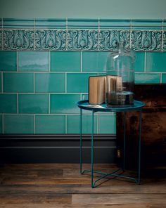 Kitchen tiles wall green fired earth 58 Ideas for 2019 Architectural Digest, Edwardian Bathroom, Victorian Tiles Bathroom, Edwardian Hallway, Antique Tiles, Edwardian Haus, Porch Tile, Regal Design, Art Nouveau