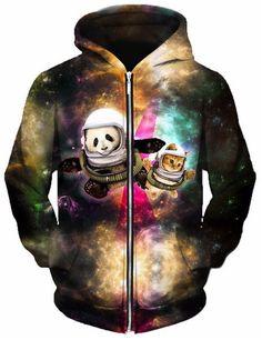 Astronaut Pals Unisex Zip-Up Hoodie