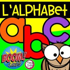 Distance Learning • FRENCH BOOM CARDS • Alphabet 2 with AUDIO French Teaching Resources, Teaching French, Teaching Ideas, Learning Cards, Learning Centers, French Alphabet, Initial Sounds, Core French, Online Classroom
