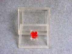 Modernist Lucite Vanity Box Dresser Jewelry by Kissisjustakiss
