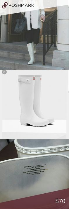HUNTER RAIN BOOTS SIZE 6M Good conditions only some wear  marks inside from the colors of the pants. Ask for more pictures if you need. Hunter Boots Shoes Winter & Rain Boots