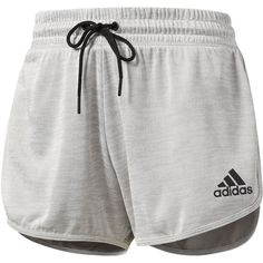 Adidas Workout Shorts - Gray - Size XS - Female - Adult - Med Grey... ($35) ❤ liked on Polyvore featuring activewear, activewear shorts, adidas activewear, adidas sportswear and adidas