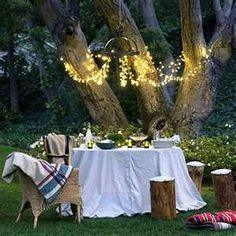Mood lighting for a romantic al fresco dinner