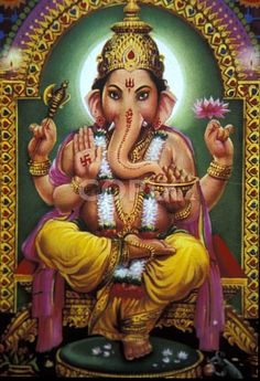 Ganesh the Elephant God. I own a similar painting that I bought in Bali.