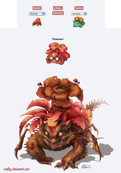 pokemon fusion pictures parausaur