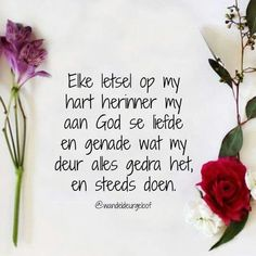 God dra ons deur al ons pyn. Bible Scriptures, Bible Quotes, Me Quotes, Positive Thoughts, Positive Quotes, Afrikaanse Quotes, Inspirational Qoutes, Quotes About God, Faith In God