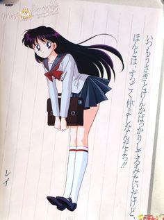 Rei Hino Sailor Moon Drops, Sailor Moon Girls, Sailor Moon Manga, Sailor Moon Art, Sailor Moon Crystal, Sailor Mars, Sailor Moon Official, Emo Anime Girl, Saylor Moon