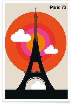 Paris 73 as Premium Poster by Bo Lundberg   JUNIQE UK