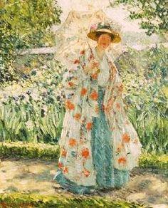 Promenade in the Garden. Frederick Frieseke