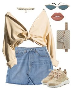 """""""Untitled #731"""" by za-r-ia ❤ liked on Polyvore featuring Gucci, NIKE and Chanel #bellezafemenina"""