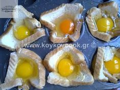 Snack Recipes, Snacks, Greek Recipes, Food And Drink, Eggs, Breakfast, Coffee, Table, Snack Mix Recipes