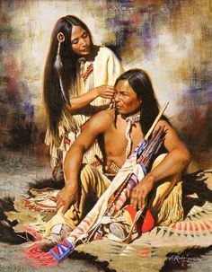 A woman's highest calling is to lead a man to his soul so as to unite him with source - a man's highest calling is to protect woman so she is free to walk the earth unharmed... -Cherokee proverb (via The Great Spirit) artist: Alfredo Rodriguez