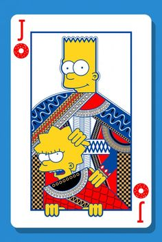The Simpsons Characters Reimagined as Playing Cards by Charles AP - What an ART