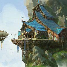 campaign environment -- Share via Artstation iOS App, Artstation 2017 Fantasy City, Fantasy House, Fantasy Map, Fantasy Places, High Fantasy, Fantasy World, Fantasy Artwork, Fantasy Concept Art, Landscape Concept