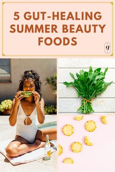 summer recipes - healthy summer snacks - summer beauty foods Healthy Summer Snacks, Healthy Recipes, Fiber Rich Fruits, Relieve Bloating, Remedies For Nausea, Sources Of Vitamin A, Red Light Therapy, Eat Pretty