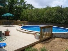 Pool deck Best Above Ground Pool, In Ground Pools, Backyard Plan, Backyard Patio, Diy Pool, Pool Fun, Swimming Pool Decks, Cool Pools, Awesome Pools