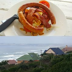 Breakfast made by your husband while sitting with this view in Mosselbay, priceless
