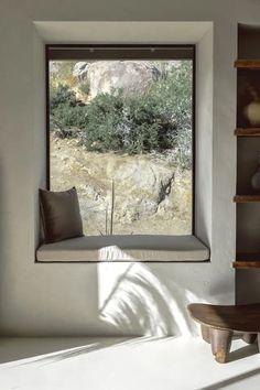 Villa Kuro is a minimalist hideaway in California's Joshua Tree National Park – The Spaces - Modern Bed And Breakfast, Villas, Destinations, Tadelakt, California National Parks, Organic Modern, Outdoor Living Areas, Maker, Hot Tubs