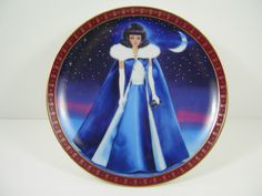 Barbie Plates High Fashion Barbie Collection Danbury Mint Set of 8 Midnight Blue