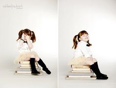 This woman takes fantabulous photos of kids. I really love her work and the ideas they give me...