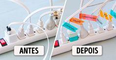 10 ideias para que o seus cabos não voltem a emaranhar-se
