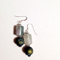 Blue Druzy Agate & Flourite Sterling Silver by clairecreations