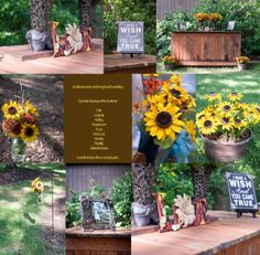 Emmaleigh Nikole Photography Sunflowers, Rustic Theme Wedding, Cowgirl Boots, Chalkboard Menu The Oaks Events - Midland, NC