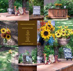 Emmaleigh Nikole Photography Sunflowers, Rustic Theme Wedding, Cowgirl Boots, Chalkboard Menu The Oaks Events - Midland, NC