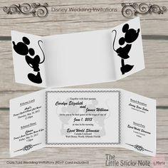Disney Wedding Invitation by TheLittleStickyNote on Etsy, $65.00