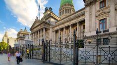 Buenos Aires - Congreso Nacional Argentino ofreciendo patrimonio de arquitectura y un edificio administrativo