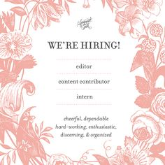 Snippet & Ink is HIRING! Click for details!