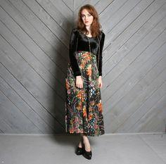vintage semi-sheer ribbon stripe maxi skirt