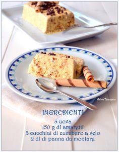 Semifreddo con Amaretti e Panna Montata