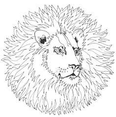 Mandala lion #mandala #mandalas #coloriage