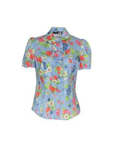 Love Moschino Woman Ruffled Floral-print Chiffon Blouse Light Blue Size 40 Love Moschino Cheap Hot Sale G7LFiP5WS