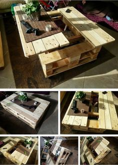 How to Build This Exquisite Multifunctional Coffee Table From Just Two Pallets ~ Atlas Ideas