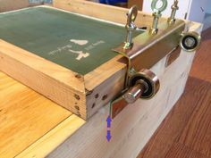 Dustin's hinge clamp for printing press silkscreen screen  speedball Jiffy