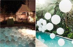 Piscina com Velas Flutuantes Casamento GT Pinterest Wedding