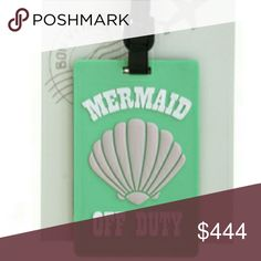 """Coming soon! Mermaid off duty luggage charm  Measurements: drop approx 6"""" * item has been pre-ordered * Accessories"""