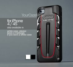 Audi V8 TFSI Engine For iPhone 4 or 4S Hard Plastic Black Case   YourCazeMate - Accessories on ArtFire
