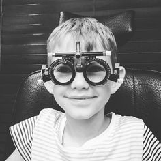 #Alexander at the #optometrist. #20-20 vision.