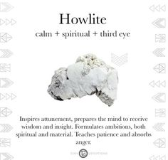 Stress less with Howlite! This calming stone is said to aid in sleep, calming an overactive mind, stress relief + dream retention.