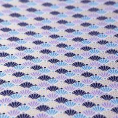 友禅紙 菊青海波 ブルー2枚入 - WACCA ONLINESHOP Textile Design, Washi, Textiles, Quilts, Paper, Modern, Image, Home Decor, Trendy Tree
