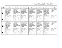 House of Bennetts chore-chart