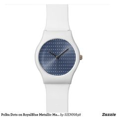 Polka Dots on RoyalBlue Metallic May28th Watch