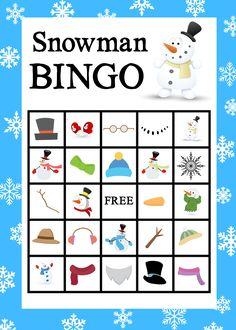 Free Printable Snowman Bingo Game